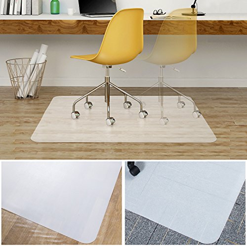 Office Desk Chair Mat, Teletrogy Polycarbonate Floor Mat for Home & Office Hardwood, Carpet, Tile, Laminate, Concrete and Vinyl Floors 35'' X 47'' by Teletrogy
