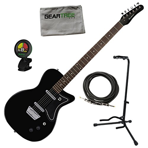 - Danelectro 56 Baritone Electric Guitar Black w/Stand, Cable, Tuner, and Cloth