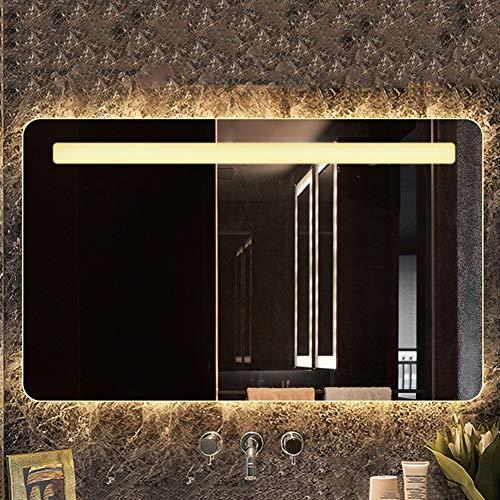 Bathroom Mirrors 600mm×800mm Horizontal Ultra-Thin LED Lighting Mirror/Wall Mounted Frameless Vanity Mirror/with -