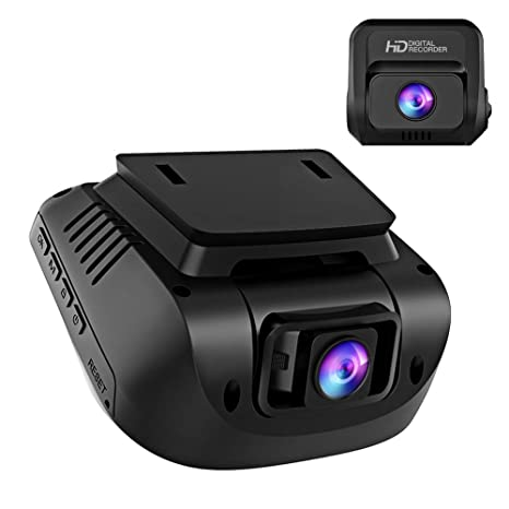 Both 1080P FHD Front and Rear Dual Lens Dash Cam in Car Camera Recorder  Crosstour External GPS HDR Both 170°Wide Angle Motion Detection G-Sensor  Loop