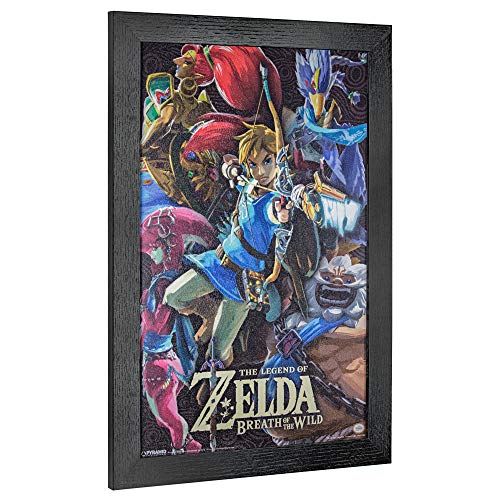 Figures Framed Art - Officially Licensed Nintendo Zelda Breath of The Wild Poster Framed Wall Art Print (19