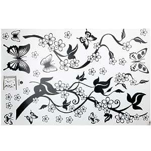 Pegatina Adhesivo Vinilo Decorativo Pared Mariposa Hiedra