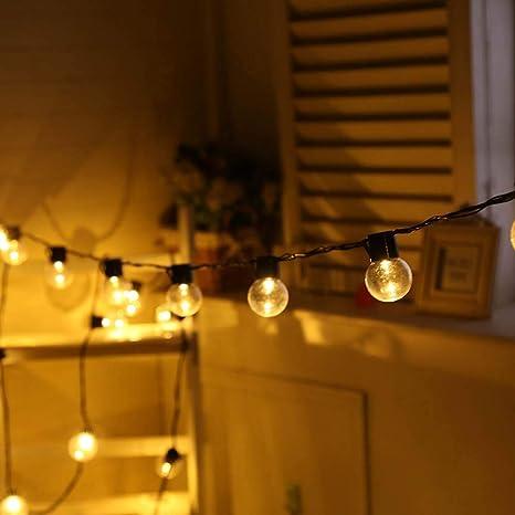 Cadena De Luces Solar Con 10 Bolas De Cristal Led Para