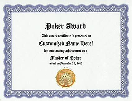 player of the game certificate