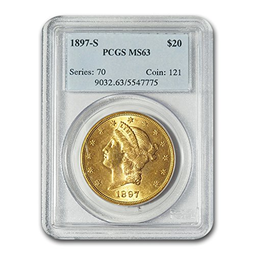 - 1897 S $20 Liberty Gold Double Eagle MS-63 PCGS G$20 MS-63 PCGS
