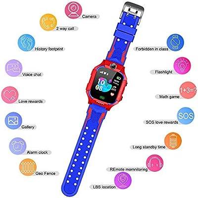 steadyuf Niños Smart Watch Phone, Reloj GPS Niños Localizador con ...