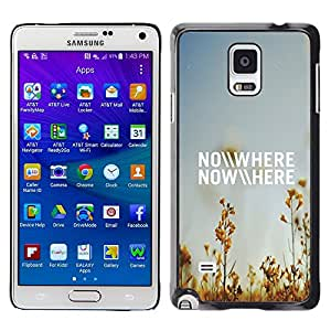 TopCaseStore / la caja del caucho duro de la cubierta de protección de la piel - Nowhere Field Summer Sky Blue Nature - Samsung Galaxy Note 4 SM-N910