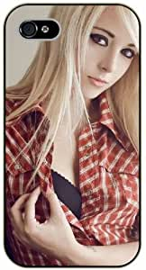 Surelock iPhone 5C Sexy blonde girl - black plastic case, hot girl, girls
