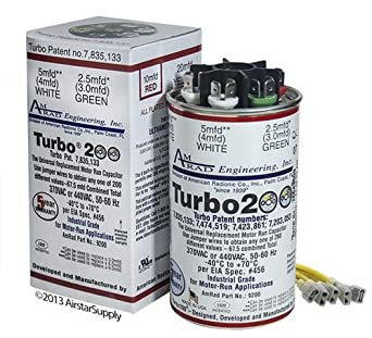 51E8u84D0hL._SX342_ turbo 200 motor run capacitor amazon com industrial & scientific Hard Start Capacitor Wiring Diagram at n-0.co