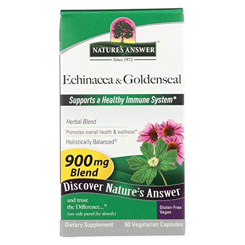 - Natures Answer Echinacea and Goldenseal Root - Strengthens Immune Functions - 60 Vegetarian Capsules (Pack of 2)