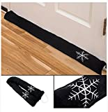 36'' Draft Stopper Blocker Cool Cold Air Door Guard Black Window Decorative Home
