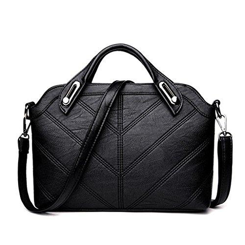 Diagonal Shoulder handbag NVBAO single Black Cross Women Shopping Fashion Six Packets colors Work Sheepskin Bag Simple 1xYUwx