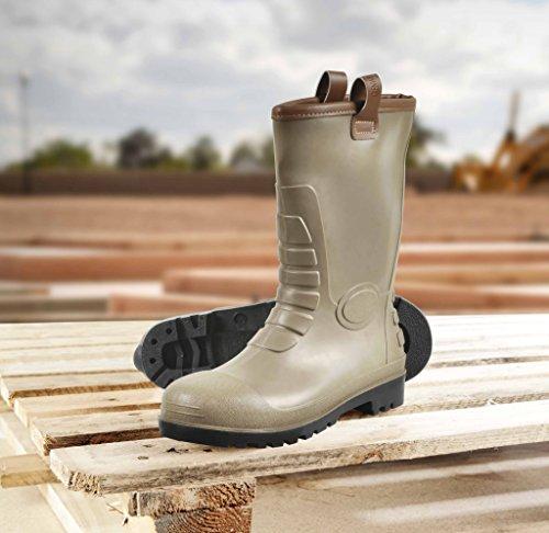 glenwear Stirling PVC Rigger Sicherheit Boot Größe 10