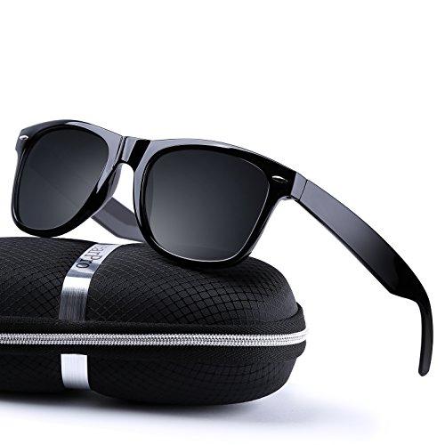 6d19bcc2d3 Galleon - Sunglasses For Men Women-wearpro Vintage Polarized Sunglasses  WP1026 (B Bright Black)