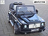 MERCEDES-BENZ G55 ! Farbe schwarz Einsitzer Originallizenz Kinderauto mit Fernbedienung 12V , 2 Motoren je 35W, MP3 - Eingang