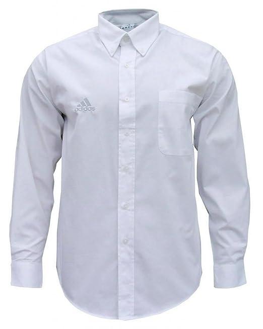 Adidas Essentials - Camisa clásica de manga larga para hombre - Blanco - X-Large / Pecho 114-119cm: Amazon.es: Ropa y accesorios