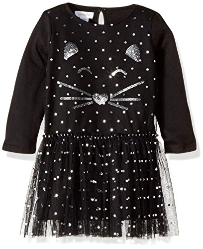 Mud Pie Girls' Toddler Halloween Mesh Tutu Cat Dress, Black, SM/ 12-24 MOS ()