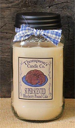 Blueberry Pound Cake Mason Jar Candles Large Jar ~ 25 fl oz (25 Oz Candle)