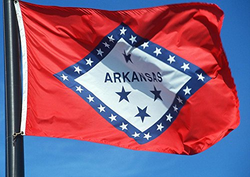 Nylon State Flag, Arkansas, 3-Foot by 5-Foot (Arkansas Ar State Flag)