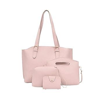 f9368187d4c5 Amazon.com: Clearance! Women Four Set Handbag, Neartime Solid Color ...