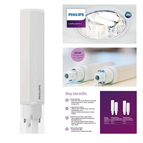 Philips CorePro LED PLC 8,5 W=26 W 840 2 Pin G24d-3 sustituye Biax Dulux Lynx D: Amazon.es: Iluminación