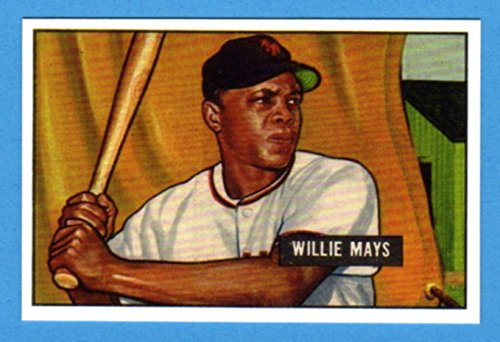- Willie Mays 1951 Bowman Baseball Rookie Reprint Card (Giants)