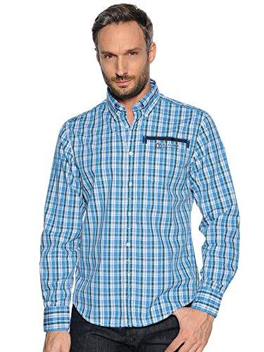 KITARO Herren Hemd Größe: S, blau kariert