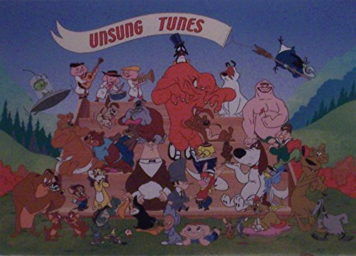 "Witch Hazel, Ralph Phillips, The Three Bops and Others in Unsung Tunes Warner Bros. Artwork. Ltd. Run Mini Print Custom Matted to 8"" x 10"" from Looney Tunes"