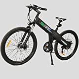 New Electric Mountain Bike Matt Black 28 inches Electric Bicycle 500w Lithium Battery City Ebike Pedal Assist Moped