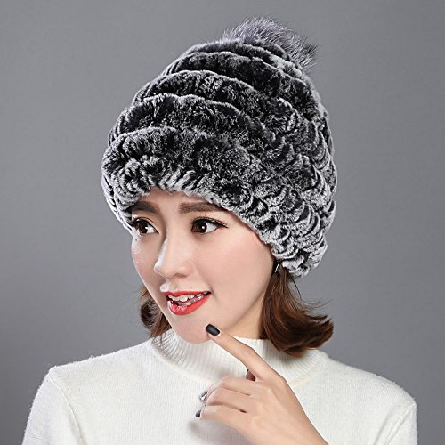 Wuyulunbi@ Hat Woman Warm Knitted Hat in Autumn and Winter,Gray