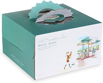 Astounding 2Pcs 8 Portable Cake Box Baking Food Packaging Carton Birthday Funny Birthday Cards Online Inifofree Goldxyz