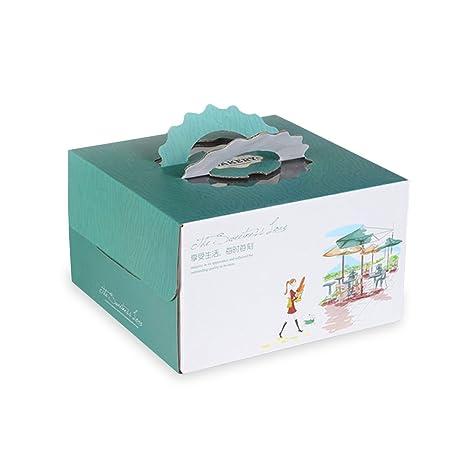 Zhi Jin 2pcs Elegante de Encaje para Tartas Cajas Carrier Pan Pasteles Caja Cupcake Wrapper Embalaje