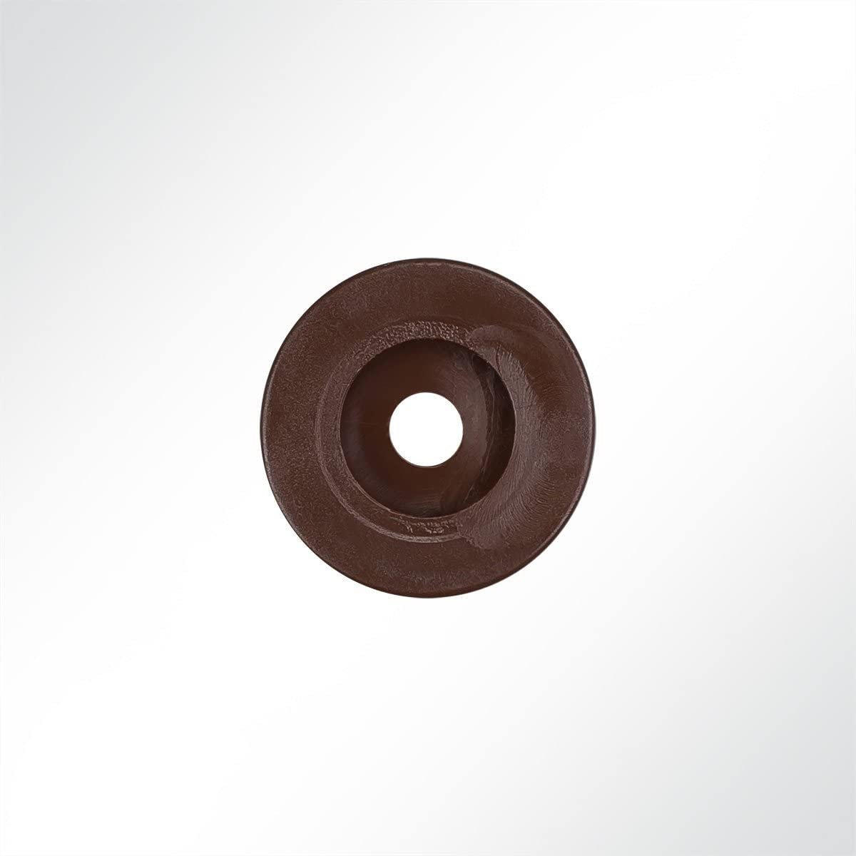 10 St/ück 25mm in Wei/ß D LYSEL Kunststoff Rundknopf,