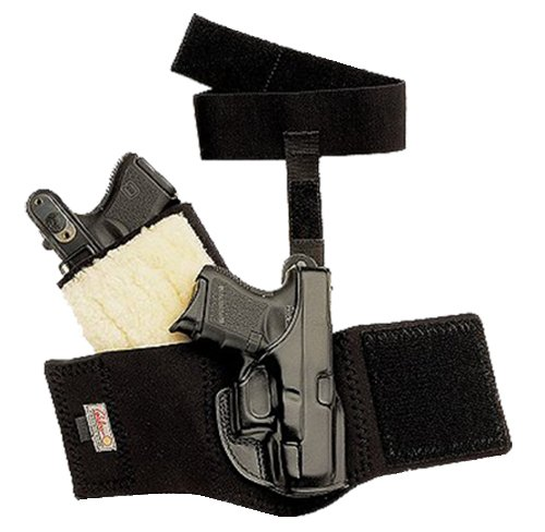 Galco Ankle Glove Holster for S&W J Frame 640 Cent 2 1/8 Inch .357, RH, Black - AG158B - Galco Black Frame