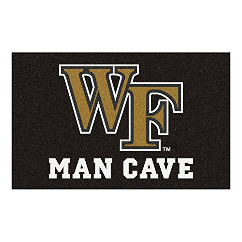 NCAA Wake Forest University Man Cave Ultimate Rug, 60'' x 96''/Small, Black by Fanmats