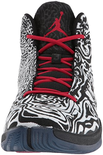 Nike Jordan Super.Fly 4 JCRD, Scarpe da Basket Uomo Multicolore (Blanco / Rojo / Negro (White / Gym Red-black-infrrd 23))