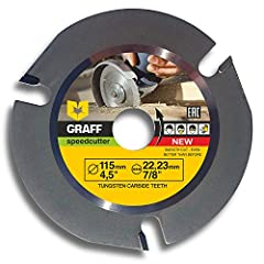 Multipurpose angle grinder blade for wood GRAFF Speedcutter        GRAFF Speedcutter is a unique three teeth cutting disc specially designed for angle grinder (flex). Such design makes this disc safe to work with any wooden surfaces.  ...
