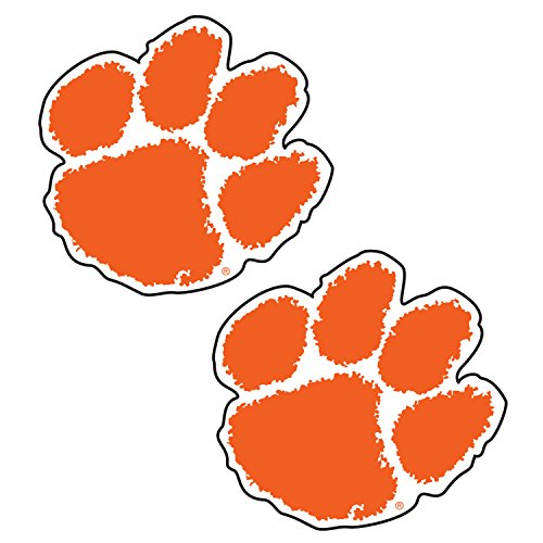Clemson Tigers Decal REFLECTIVE PAW DECAL 2PACK 2