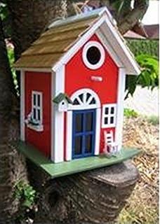 DE/_Handmade Lighthouse Design Birdhouse and Feeder