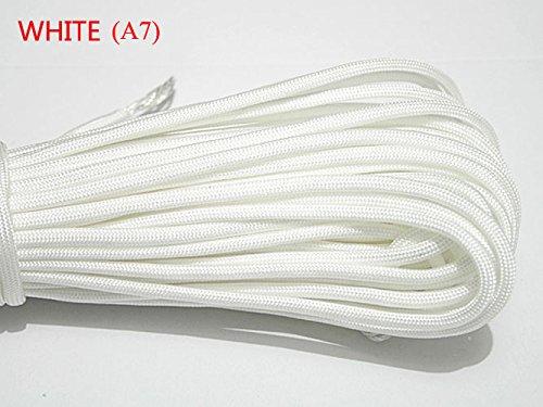 パラコード パラシュートコード ランヤード 軍用スペックタイプⅢ 7本縒りコア 長さ100フィート 重さ550ポンド B00YEDORXK ホワイト  ホワイト