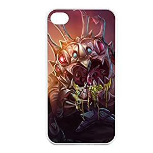 KogMaw-001 League of Legends LoL case cover for Apple iPhone 4 / 4S - Rubber White