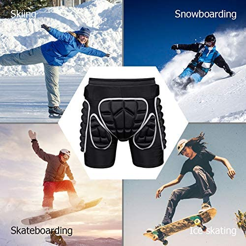 Protection Hip 3D Padded Protective Shorts for Snowboard Skate and Ski