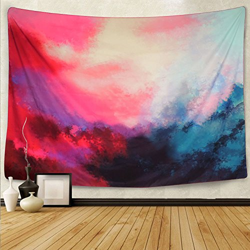 Martine Mall Tapestry Wall Tapestry Wall Hanging Tapestries Art Tapestry Flowing Cloud Tapestry Abstract Palette Tapestry Huge Tapestry Wall Blanket Wall Decor Wall Art Home Decor 82 x 59 Inches