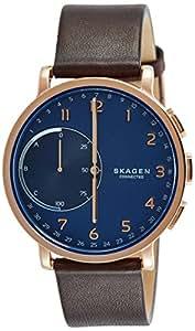 Skagen Men's SKT1103 Hagen Connected Brown Stainless Steel & Leather Hybrid Smartwatch