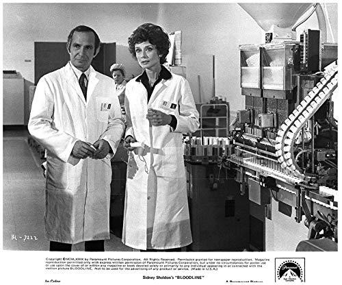 Bloodline original 8x10 photo 1979 Ben Gazzara Audrey Hepburn in lab ()