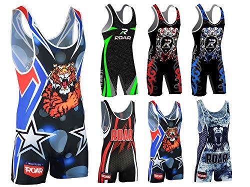Roar Athletic Men's Wrestling Singlet Suit Bodywear Uniform
