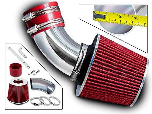 (Rtunes Racing Short Ram Air Intake Kit + Filter Combo RED For 00-03 Toyota Rav4 2.0L / 04-05 Toyota Rav4 2.4L)