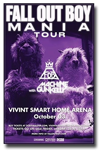 amazon com fall out boy poster w machine gun kelly concert