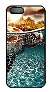 iPhone 5 5S Case Sea Turtle PC Custom iPhone 5 5S Case Cover Black by Maris's Diary