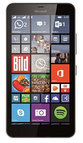 Microsoft Lumia 640 XL GSM Single-SIM Unlocked Smartphone, Quad-Core, 8GB ROM, Windows 8.1 (White) (Certified Refurbished)